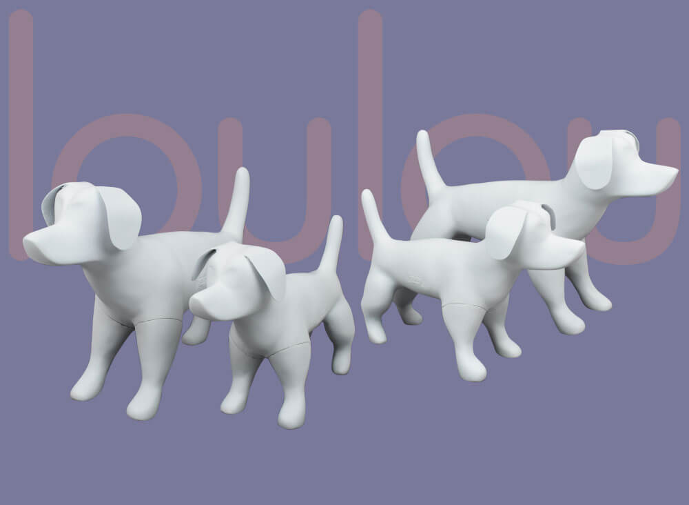 loulou_pet, dog display mannequins, kopek vitrin mankeni,